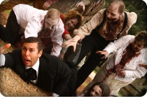 man dragged away by zombies