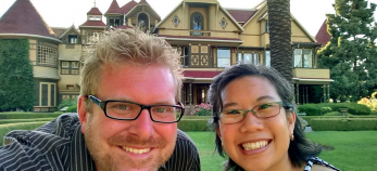 Todd & Bich at Winchester Mystery House